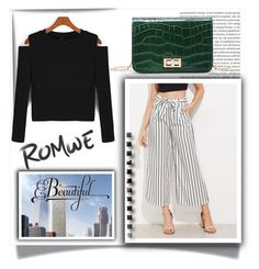 """""""Romwe 6"""" by melissa995 ❤ liked on Polyvore featuring WithChic"""
