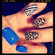 busy nails , cute
