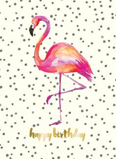 flamingo beak template - flamingo birthday card anne van midden illustration