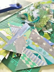 scrappy triangles, scrap quilt, crazymomquilts, modern cologne quilters