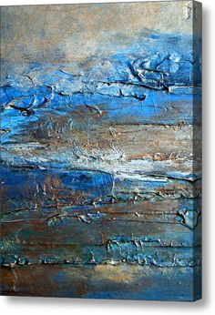Textured Original Abstract Dune Acrylic Print By Holly Anderson