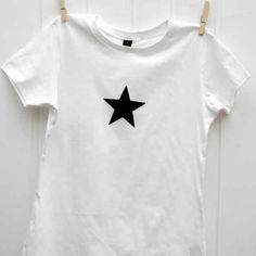Star T-shirt, white