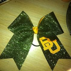 Customizable Glittery University Bows by cheerbowscustomgifts, $12.00