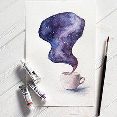 39 вподобань, 1 коментарів – Lilia Kachmola (@magictwirl) в Instagram: «Tea time #illustration #mydrawing #aquarelleart #aquarelles #watercolor #watercolorart…»