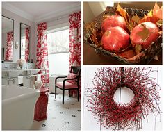 Red home decor makes your space feel lively and full of color.