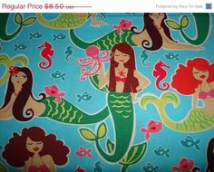 ON SALE Sea Beauties Turquoise by Michael by sewcraftscorner, $7.57