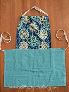 Dish Towel Apron Two-tea-towel apron: absorbent, inexpensive, quick, easy, and infinitely customizable. Sewing Tutorials, Sewing Crafts, Sewing Projects, Sewing Patterns, Apron Patterns, Sewing Diy, Fabric Crafts, Sewing Ideas, Stitch Patterns