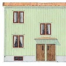 Kromoxidgrön 7% gysinge byggnadsvård. Fasad 50-tal.