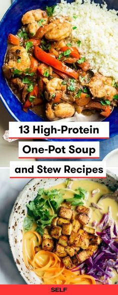 These easy one-pot meals are healthy and can be made in your slow-cooker! These soups and stews contain everything from pasta, to chicken, to seafood, to beef, with a few vegan/vegetarian recipes for Meatless Monday! They can be made with few ingredients to keep costs cheap and a variety can be served over rice for a more filling meal!