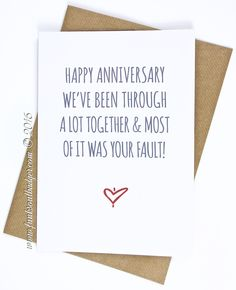 anniversary gift for boyfriend funny anniversary cards for him