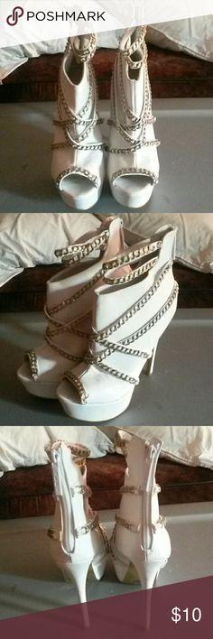 Stilettos by ALBA Off the chain white heels ALBA Shoes Heels