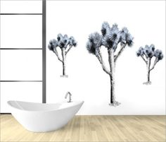 New designer wallcoverings - spacious, clean and fresh looking...