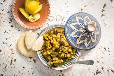 Tajine de bœuf, citrons confits au sel et chermoula