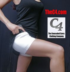 15a116ae42788 C4 The Concealed Carry Clothing Company s Original Holster Shorts for  Women. TheC4.com.