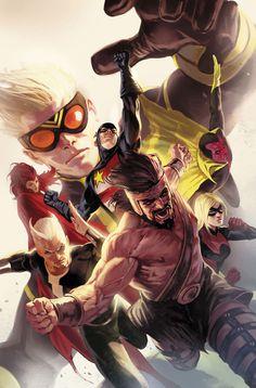 Avengers - Hank Pym - Loki - USAgent - Vision - Quicksilver - Hercules - Stature - Marko Djurdjevic - Cover