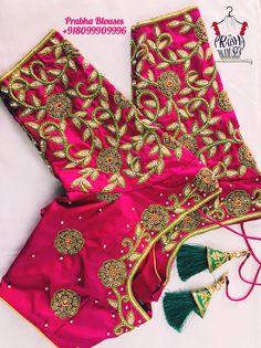 Wedding Saree Blouse Designs, Best Blouse Designs, Pattu Saree Blouse Designs, Simple Blouse Designs, Stylish Blouse Design, Blouse Neck Designs, Mirror Work Blouse Design, Maggam Works, Designer Blouse Patterns