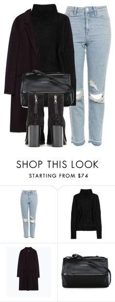 """""""Untitled #6385"""" by laurenmboot ❤ liked on Polyvore featuring Topshop, T By Alexander Wang, Zara, Givenchy and rag & bone"""