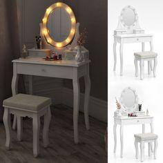 Poze SEA314 - Set Masa alba toaleta cosmetica machiaj oglinda masuta vanity