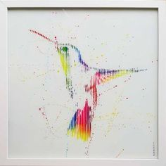 "Saatchi Art Artist VeeBee VeeBee; Painting, ""Ghost of a hummingbird-original painting on glass"" #art"