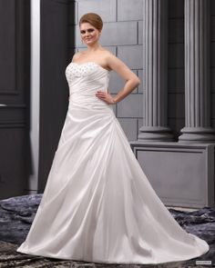 custom bridesmaid dresses Sweetheart Court Plus Size Wedding Dress $291.98