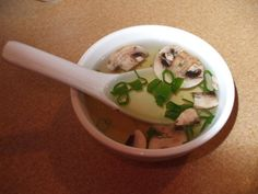 OMG Here it is...Hibachi Japanese Onion Mushroom Soup! I LOVE THIS STUFF!