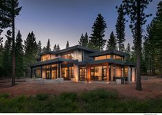 Martis Camp modern mountain residence. Crestwood Construction, Truckee, CA.