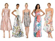 Brides: Floral-Printed Bridesmaid Dresses They'll Love