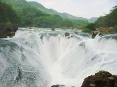New print available on lanjee-chee.artistwebsites.com! - 'Huangguoshu Waterfall 3' by Lanjee Chee - http://lanjee-chee.artistwebsites.com/featured/huangguoshu-waterfall-3-lanjee-chee.html