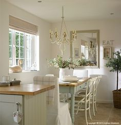 The dining area in 36 Ascot Park on the February New Kitchen, Kitchen Dining, Kitchen Decor, Kitchen Ideas, Compact Kitchen, Kitchen Cupboards, Kitchen Flooring, Cottage Kitchens, Home Kitchens