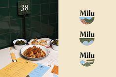 MILU on Behance Cafe Branding, Food Branding, Corporate Branding, Fast Casual Restaurant, Casual Restaurants, Packaging Design, Branding Design, Western Food, Behance