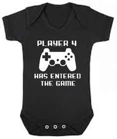 Player 4 has entered the game funny Baby bodysuit - perfect for any gamer - you choose size & color funny gaming outfit for infant