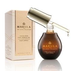The beauty benefits of facial oils: Marula Oil contains 70-80 percent Omega 9 fatty acid—meaning the skin absorbs it quickly and there's never a greasy after feel.