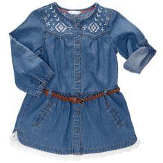 Vestido de Chambray + cinturón trenzado Infantil niña - Kiabi - 12,99€
