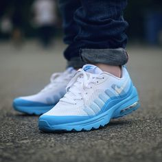 b204f03db07a98 Really Cheap Men Nike Air Max Invigor White Blue Lagoon On Feet Air Max 270