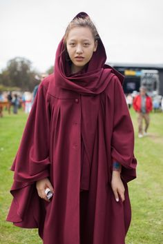 This red cape. // Festival Fashion At Outside Lands // Free People