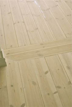 Pine Plank Flooring - limed and white pigmented flooring, with several layers of soap and hand polished. This flooring, and the details, are lovely! End Grain Flooring, Plank Flooring, Flooring Ideas, Doors And Floors, Pine Floors, Floor Design, House Design, Wood Floor Finishes, Building A Cabin