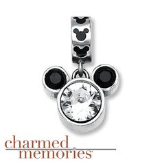 Charmed Memories Mickey Mouse Charm Sterling Silver