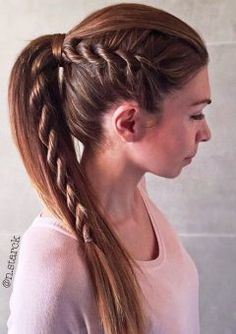 6-ponytail-for-straight-hair-with-a-side-rope-braid-240x340.jpg (240×340)