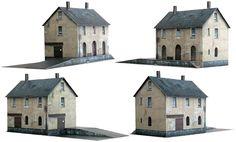Güterschuppen   (goods shed) 1:100  free download at designer's site