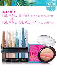 Get the perfect island glow using mark's Island Eyes Color Palette and Island Beauty Face Compact filled with gorgeous shades that will look glowing on all skin tones! #instantvacation