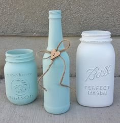 Decorative Mason Jars and Bottle