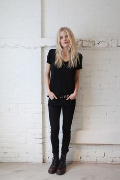 Dr Martens jeans shirt fashion men women tumblr Style | See more about black combat boots, fashion clothes and black.