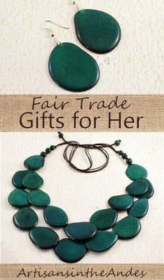 Make a statement of style and values with this dramatic necklace in glorious dark teal. Cascading in a double layer and made with eco friendly tagua nut - this artisan necklace is sure to create a memorable look and bring on the compliments. Teal Necklace, Necklace Set, Handmade Accessories, Handmade Jewelry, Etsy Jewelry, Handmade Gifts, Gifts For Women, Gifts For Her, Dark Teal