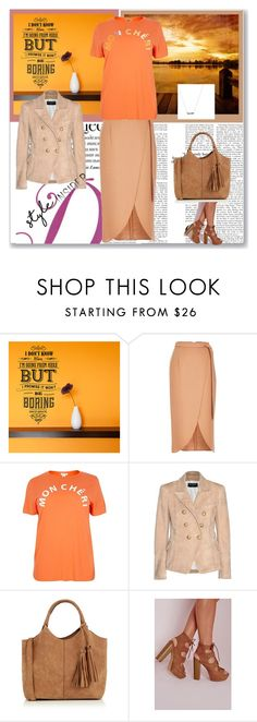 """""""Orange Riot"""" by peeweevaaz ❤ liked on Polyvore featuring Wall Art, River Island, Balmain, Oasis, Missguided, contestentry and styleinsider"""