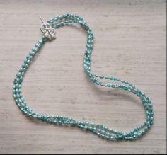Custom bridesmaid jewelry. Silver, aqua freshwater pearls, + Swarovski crystals.  www.aebumble.com