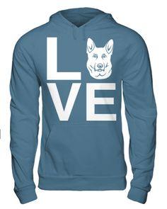 White German Shepherd Love Hoodie