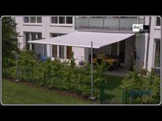 ▶ Twister-Sonnensegel - Das Segel No. 1 - rollbar, flexibel, günstig - Die Beschattung für Terrassen! - YouTube
