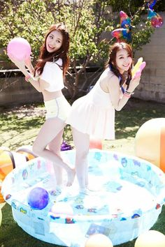 Girl's Day release teaser photo of Yura and Minah for summer comeback