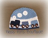 Crochet Train Beanie Hat
