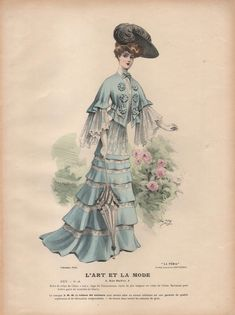 French Fashion Plate from L' Art Et La Mode Fashion of 1903
